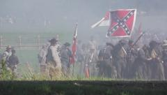 Battle of Gettysburg 150th Anniversary - Confederates marching stock footage Stock Footage