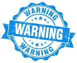 Stock Illustration of warning grunge stamp