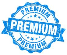 Premium grunge round blue seal Stock Illustration