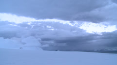 Time lapse. A storm brews, Antarctica Stock Footage