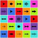 Arrow sign icon set Stock Illustration