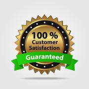 Stock Illustration of Red and gold customer satisfaction badge