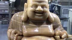 Giant Marble Buddha Stock Footage