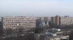 Communist Era Apartment Buildings Aerial Still-Shot Stock Footage