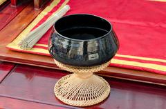 monk's alms bowl - stock photo