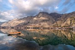 Bay of Kotor, Montenegro. Boka kotorska. Stock Photos