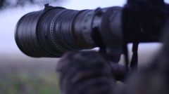 Stock Video Footage of Wildlife photographer