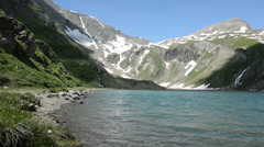 Lake at Grossglockner in European Apls (Austria) Stock Footage