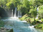 Stock Photo of waterfall duden antalya turkey