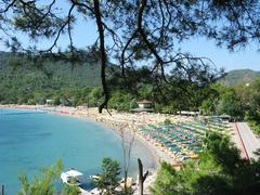 beach landscape kemer resort turkey - stock photo