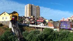 0808 Street in Valparaiso Stock Footage
