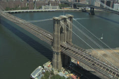 Brooklyn Bridge Ariel - stock footage