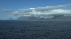 Wide Panoramic pan of Cape Town's peninsula Stock Footage