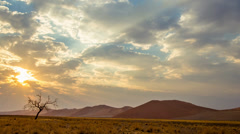 Time lapse over Namibia's Sossusvlei's dunes Stock Footage