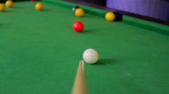Cue Stick Stock Footage