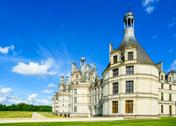 Stock Photo of chateau de chambord, unesco medieval french castle. loire, france