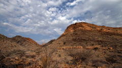 Cloud Time lapse over Namibian mountain desert. Stock Footage