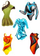 set of leotards - stock illustration