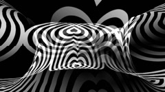 OpArt Hearts Warpcore Stock Footage