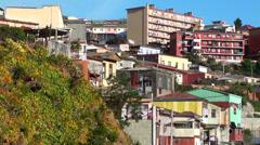 0807 Street on the hill, Valparaíso Stock Footage