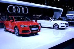 Audi A3 Sedan and Cabriolet Stock Footage