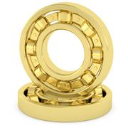 golden bearings on white background - stock illustration