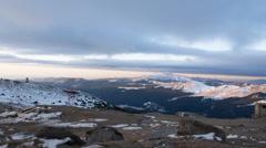 Sunrise on Bucegi plateau 1080p Stock Footage