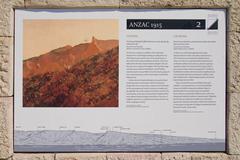 anzac cove memorial in turkey  - stock photo
