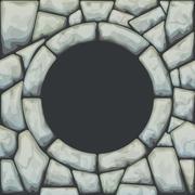Frame on stone seamless pattern Stock Illustration