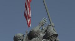Iwo Jima memorial Winter scene Stock Footage