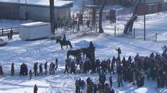 Ukraine, winter, river Desna Stock Footage