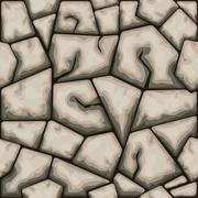 Brown stone seamless pattern Stock Illustration