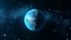 Earth Planet Animated Rotation 3D 1920x1080p Stock Footage
