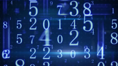 Twitching glowing numbers loopable background Stock Footage