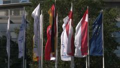 Flags of IAA Stock Footage