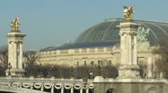 Grand Palais in Paris Stock Footage