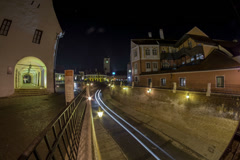 Hermannstadt Kleiner ring time lapse fish eye 6K Stock Footage