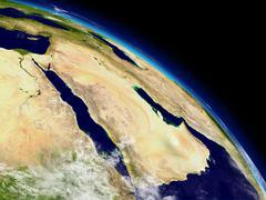 Stock Illustration of arabian peninsula from space