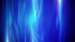 Blue flowing lights loop background Stock Footage