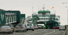 Ferry Loading 4k Time Lapse Stock Footage