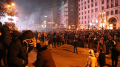 Stock Video Footage of UKRAINE, KIEV, JANUARY 19, 2014: Anti-government protest in Kiev, Ukraine