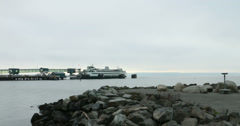 Ferry Leaving 4k Time Lapse Stock Footage