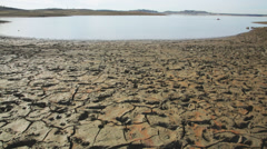 Folsom Lake dried lake bed - stock footage