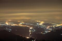 The panorama view of Chiayi City  - stock photo