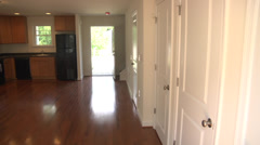 Interior new apartment PAN RtoL Stock Footage