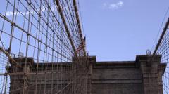 Brooklyn Bridge in New York City in 4K Stock Footage