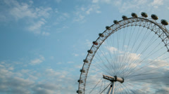 London Eye Millennium Wheel day time lapse. 4K version Stock Footage