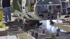 California Dept. of Forestry, building helicopter, Stock Footage