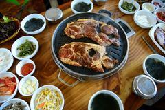 korean barbecue - stock photo