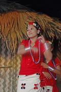 Stock Photo of nyishi tribes, girls performing dance at namdapha eco cultural festival, miao